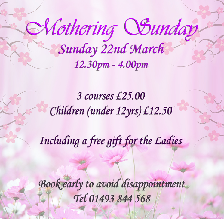 Mothering Sunday: 22nd March 2020